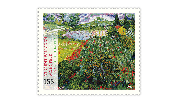 germany-2020-van-gogh-field-with-poppies-stamp