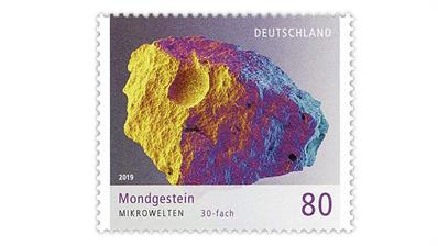 germany-moon-rock-stamp-microworlds-series