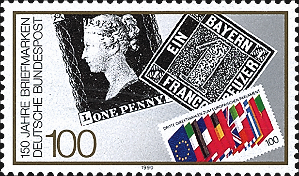 germany-penny-black-150th-anniversary-stamp-1990