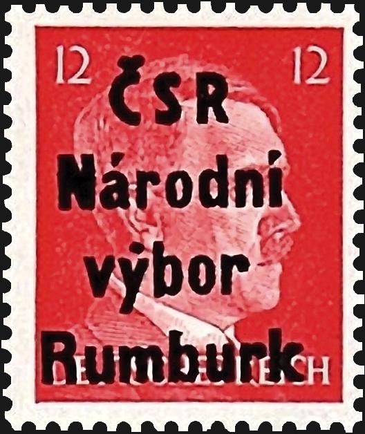 germany-rumburk-local-post-stamp-1945