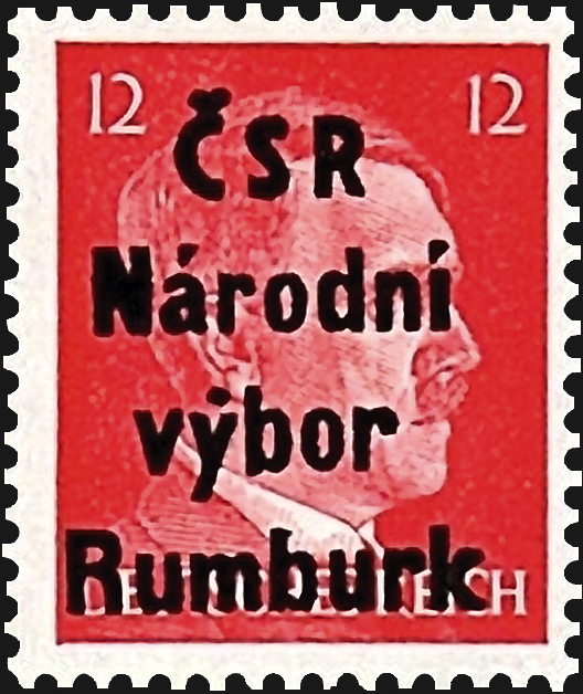 germany-rumburk-local-post-stamp-1945