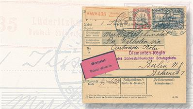 gert-muller-german-south-west-africa-declared-value-parcel-card