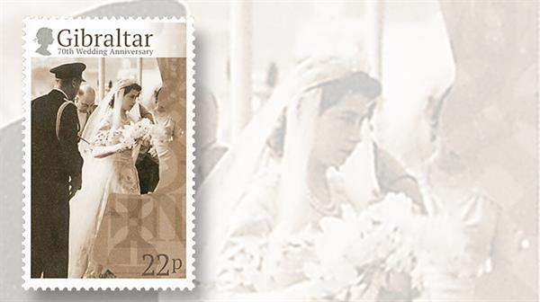 gibraltar-elizabeth-royal-wedding-anniversary-stamp