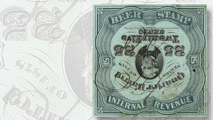 grant-inman-collection-1878-benton-quarter-barrel-beer-tax-revenue-stamp