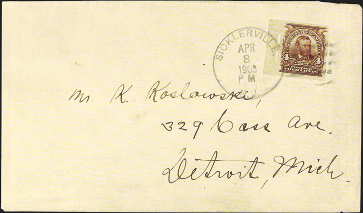 grant-stamp-schermack-perforations-1909-koslowski-cover