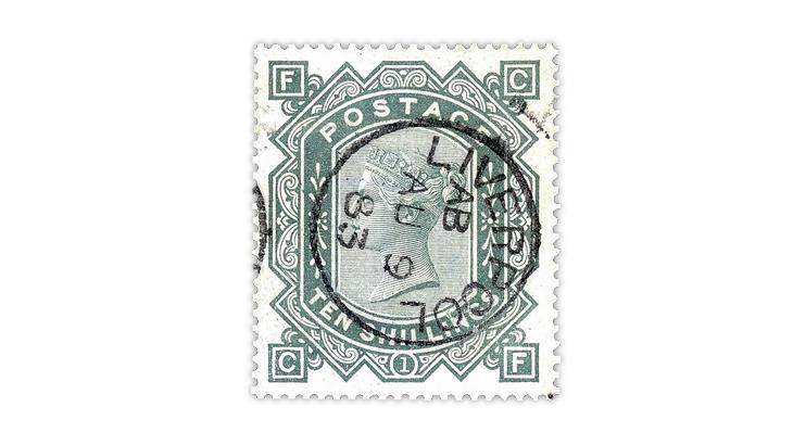 great-britain-1883-10-shilling-queen-victoria-stamp