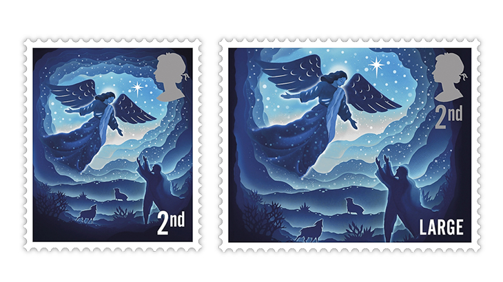 great-britain-2019-christmas-angel-second-class-stamps
