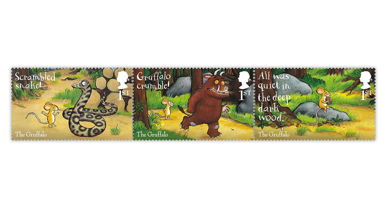 great-britain-2019-gruffalo-mouse-snake-stamps