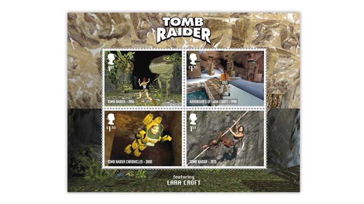 great-britain-2020-classic-video-games-tomb-raider-souvenir-sheet