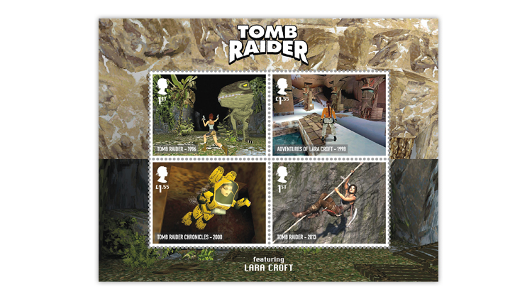 great-britain-2020-classic-video-games-tomb-raider-souvenir-sheet