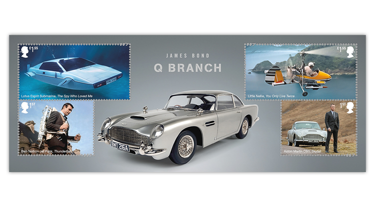 great-britain-2020-james-bond-souvenir-sheet