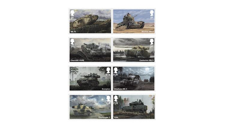 great-britain-2021-british-army-vehicles-stamps