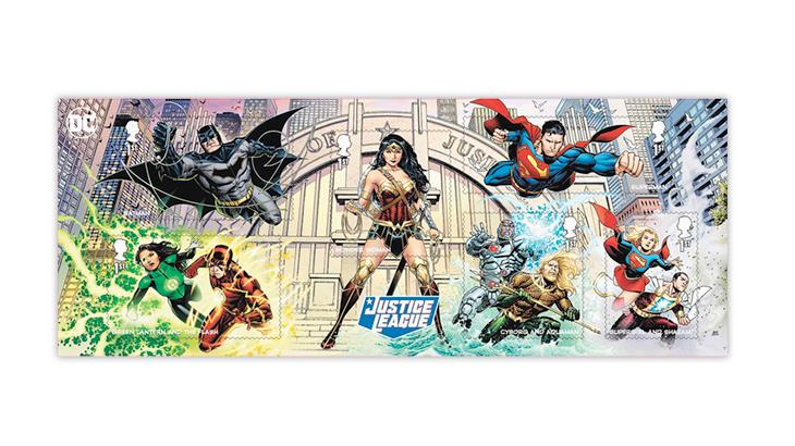great-britain-2021-dc-comics-stamps-souvenir-sheet