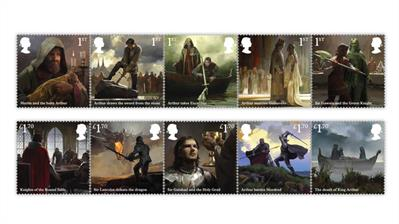 great-britain-2021-king-arthur-knights-stamps