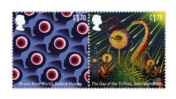 great-britain-2021-science-fiction-stamps-brave-new-world-triffids