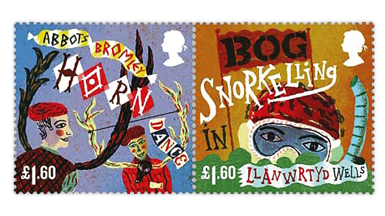 great-britain-curious-customs-stamps-horn-dance