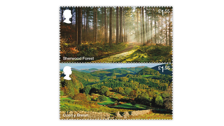 great-britain-forests-stamps-sherwood-coed-y-brenin