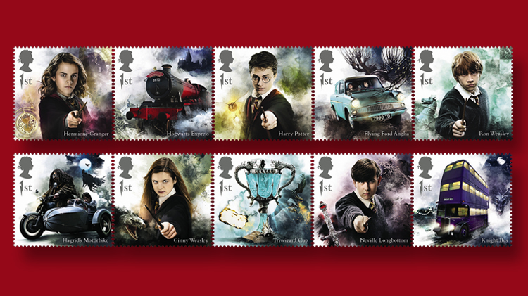 great-britain-harry-potter-set-stamps