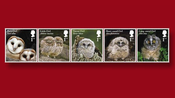 great-britain-juvenile-owls-stamps