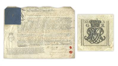 great-britain-king-george-iii-indenture document-embossed-revenue-stamp