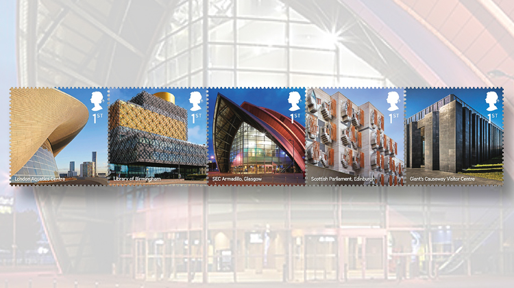 great-britain-landmark-buildings-stamps-london-aquatic-center