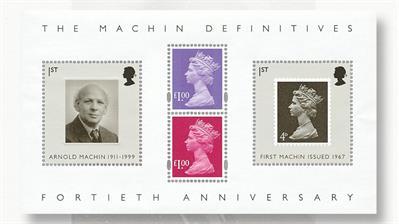 great-britain-machin-40th-anniversary-souvenir-sheet