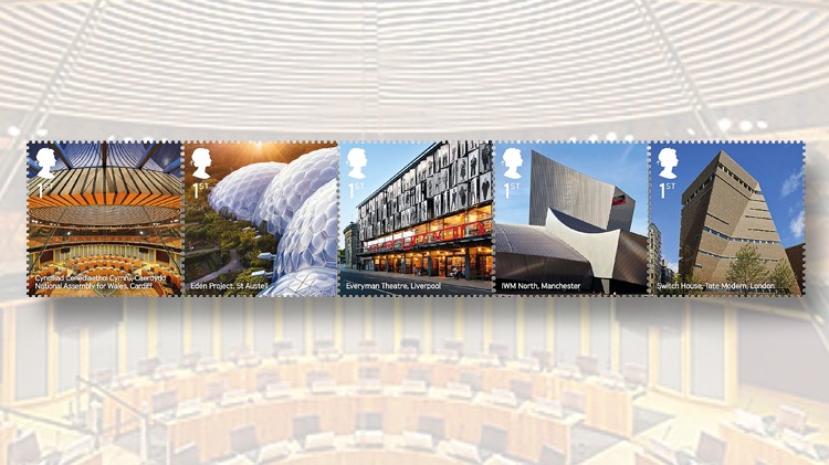 great-britain-nondenominated-first-class-stamps-landmark-buildings