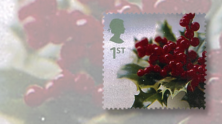 great-britain-philately-2002-christmas-stamp-holly-berries-leaves