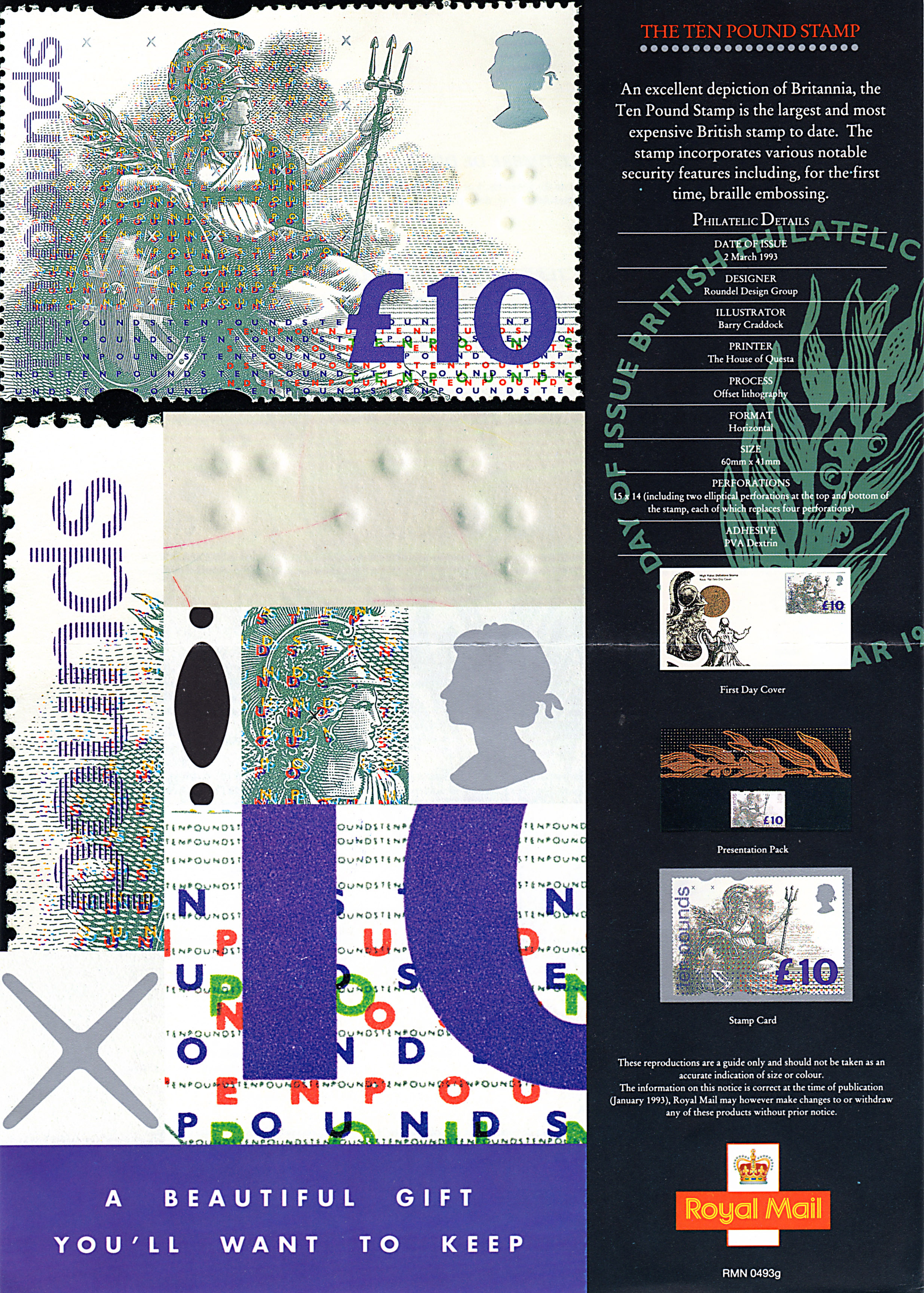 Post office poster advertises britain 39 s highest denomination stamp - Great britain post office ...