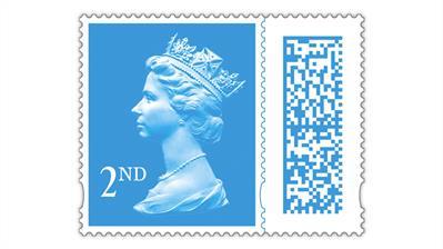 great-britain-second-class-queen-elizabeth-machin-bar-code-definitive-stamp