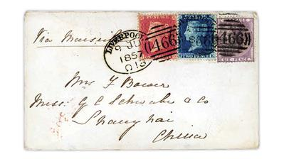 great-britain-shanghai-china-1857-queen-victoria-cover