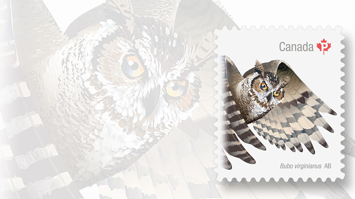 great-horned-owl-canada-stamp