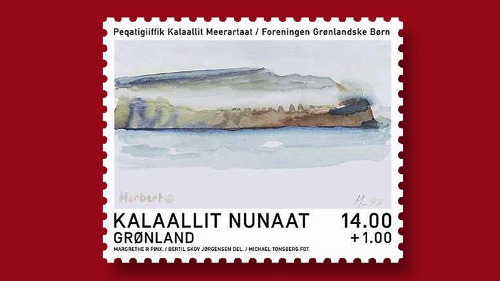 Акварели кисти Королевы Маргрете II были использованы для создания новой серии марок Гренландии