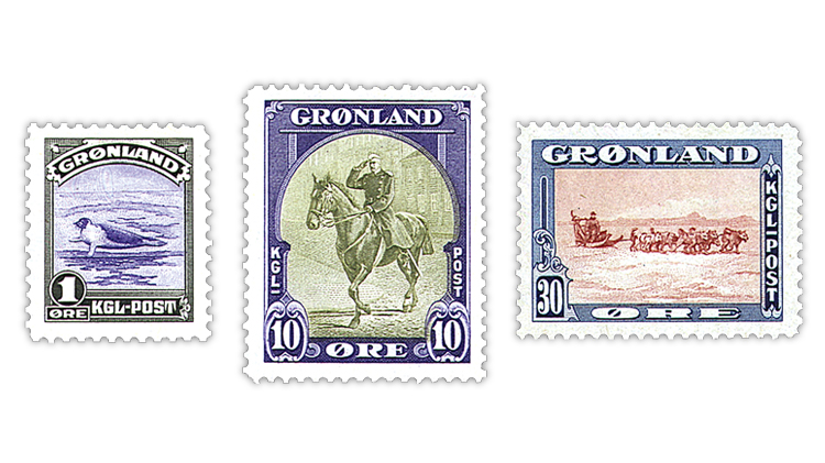 greenland-1945-American-issue-stamps