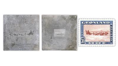 greenland-1945-dog-team-die-issued-stamp
