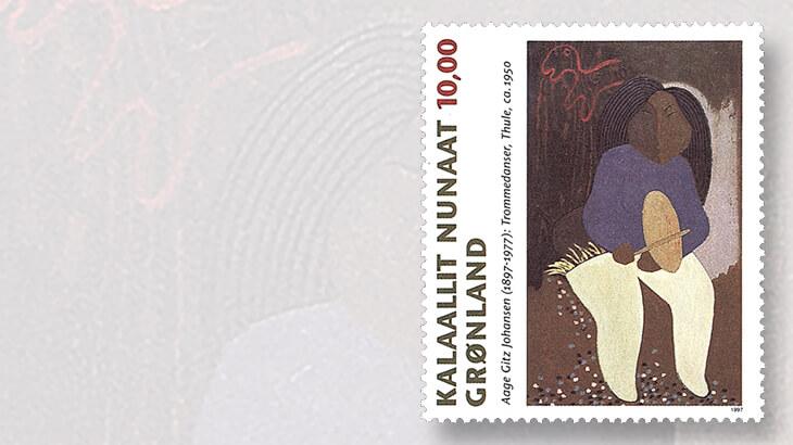 greenland-1997-aage-gitz-johansen-stamp