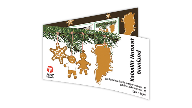 Greenland Christmas stamp 2018 booklet