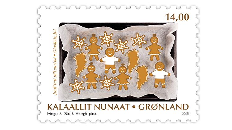 Greenland Christmas stamp 2018