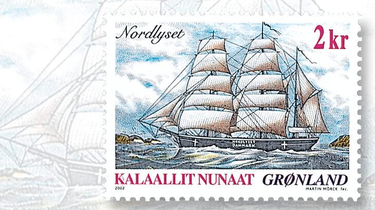 greenland-nordlyset-stamp-martin-morck-designer