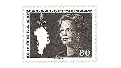 greenland-queen-margrethe-II-stamp