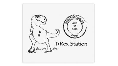 greensboro-north-carolina-tyrannosaurus-rex-postmark