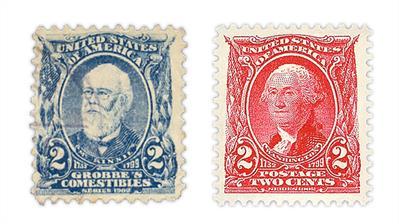 grobbe's-comestibles-label-1903-carmine-washington-stamp