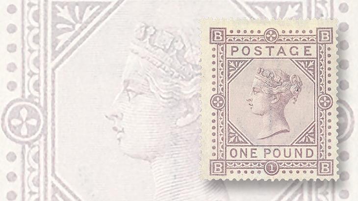 grosvenor-great-britain-1882-1-pound-brown-lilac-victoria-bluish-paper