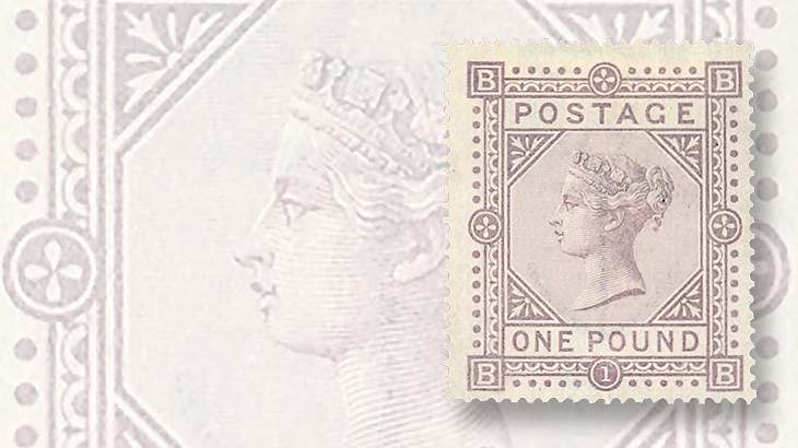 grosvenor-great-britain-1882-1-pound-brown-lilac-victoria-bluish-paper