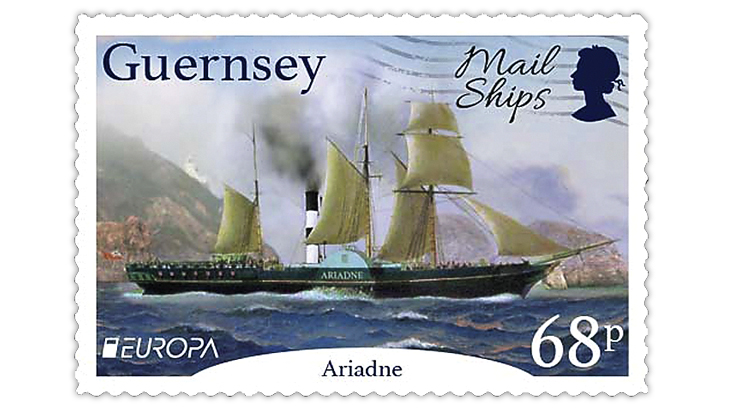guernsey-2020-europa-ship-ariadne-stamp
