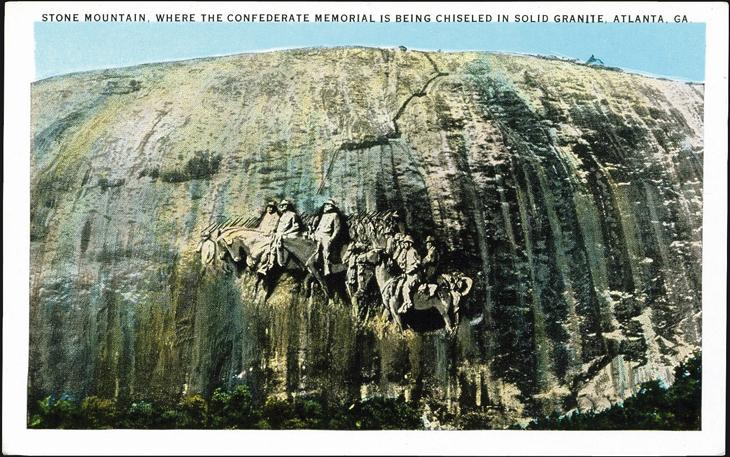 gutzon-borglum-stone-mountain-postcard