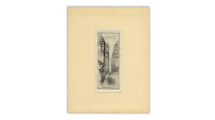 harry-lindquist-1949-christmas-card-harry-peckmore-etching