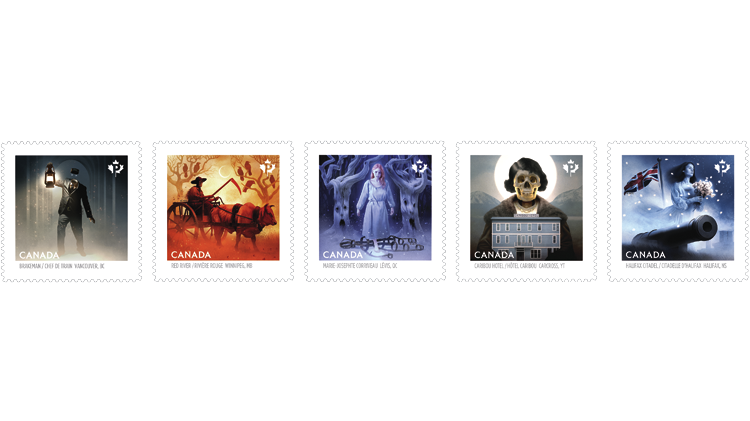 haunted-canada-booklet-stamps-2015