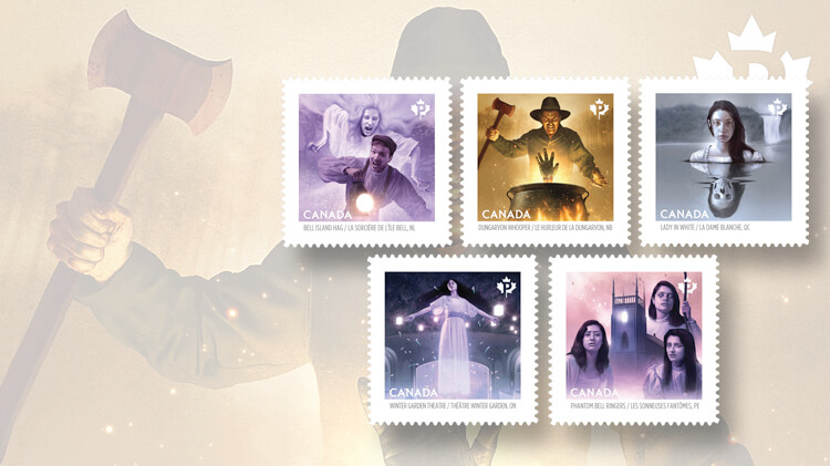 haunted-canada-booklet-stamps