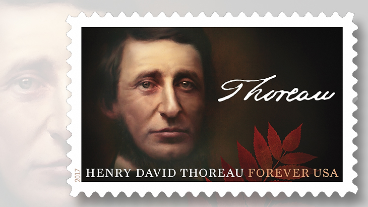 2017 Henry David Thoreau U.S. stamp